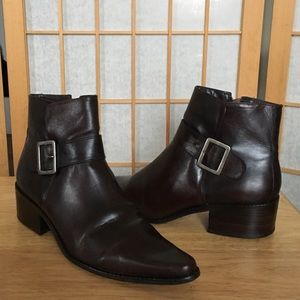 J.Jill Brown Leather Ankle Boots SZ 8 1/2